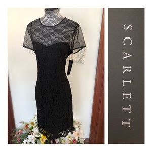 New Scarlett Black Illusion Lace Dress